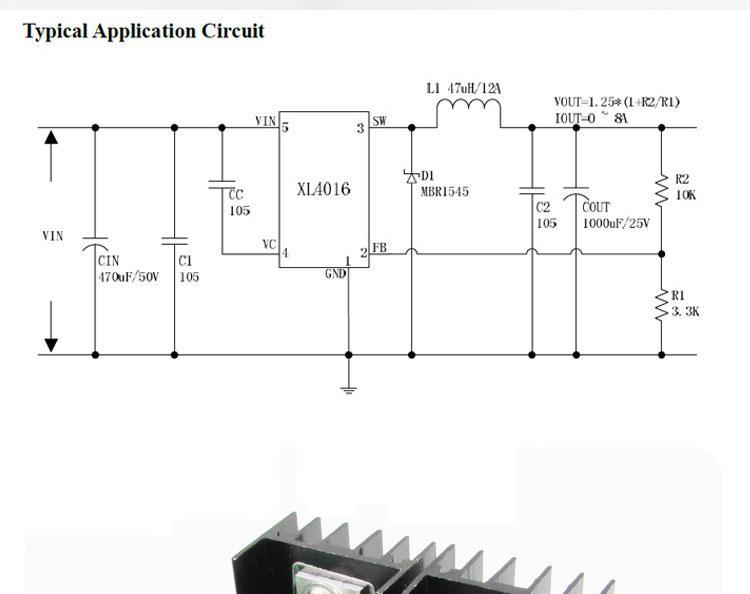 dc-dc降压模组xl4016大功率直流调压板